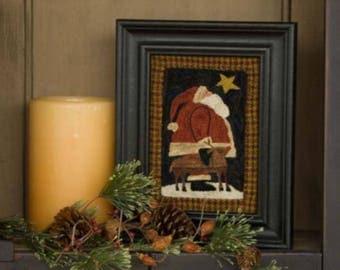 Santa Reindeer Christmas Eve 642 Punchneedle Punch Needle Threads That Bind Pattern