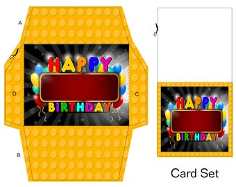 Birthday Lego Gift Card-Digital Clipart-Website-Banner-Party-Background-Gift Tag-Notebook-Gift Cards-Scrapbook.