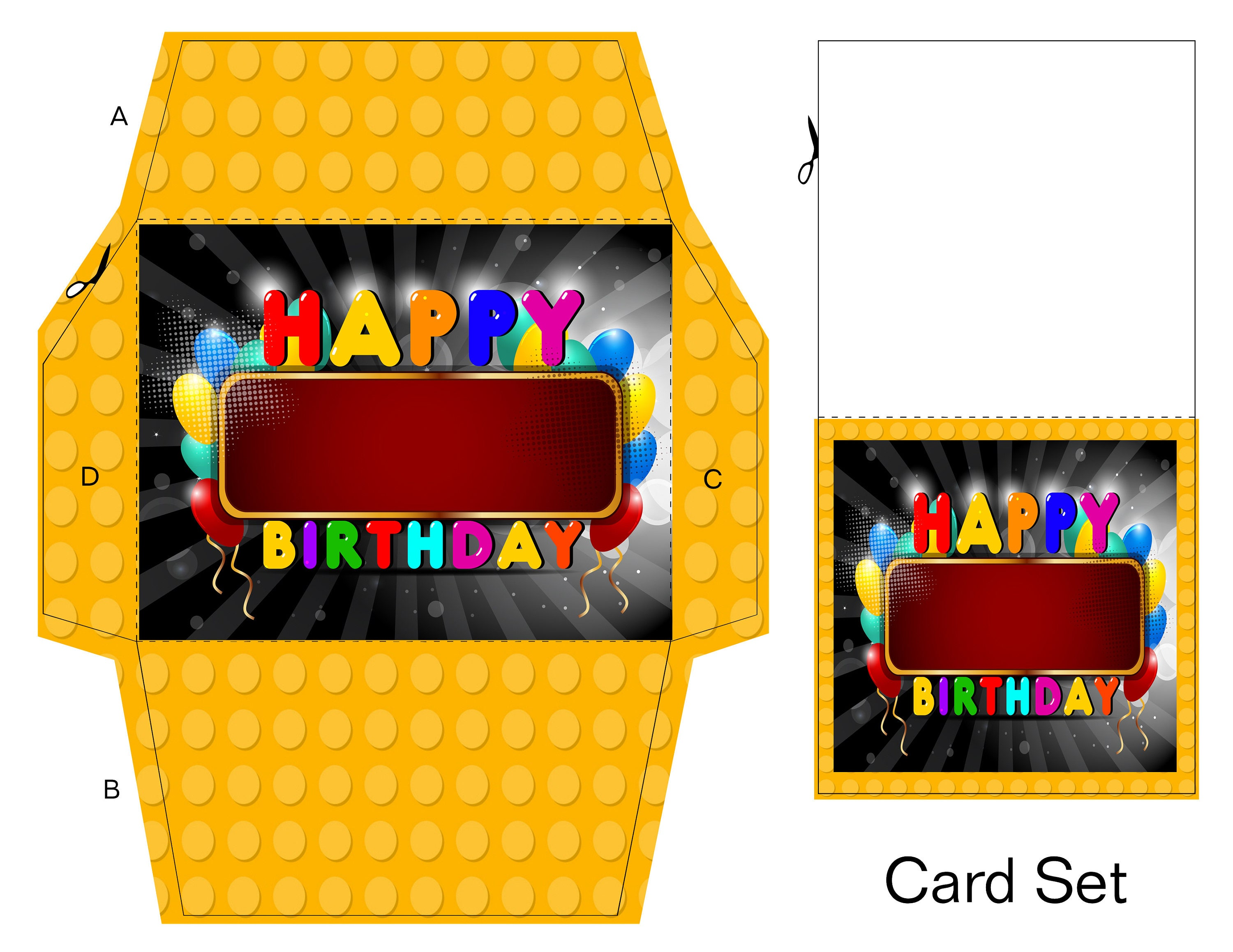Birthday Lego Gift Card-Digital Clipart-Website-Banner-Party ...