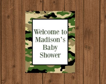 Camouflage Welcome Sign, Camouflage Baby Shower, Camo Welcome Sign, Camo  Baby Shower,