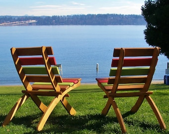Great Outdoor Chair! - Beach Chair, Garden Chair, Patio Chair, Cabin Chair - 12 colors to select from - Laughing Creek