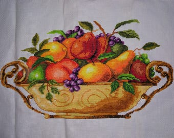 New Finished Completed Cross Stitch - Fruits II - F103