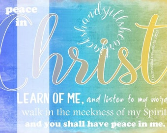 2018 LDS youth theme Peace in Christ 4x6 size