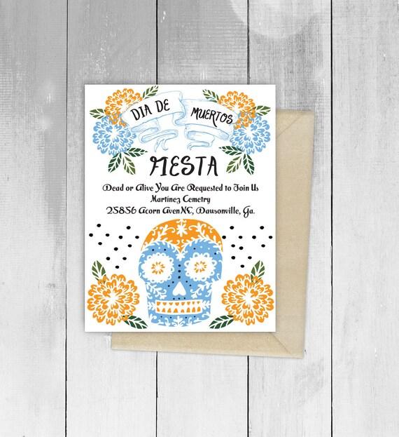Day of the dead fiesta wedding design invitation by viva greetings il570xn m4hsunfo