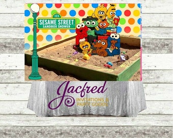Sesame street Backdrop for  candy table (Digital file only)