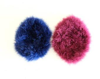 Purple or blue beret, vintage, 53 cm