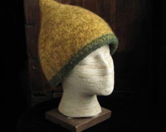 Mustard and Green Viking Hat