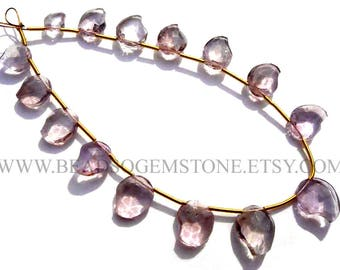 Gemstone Beads, Ametrine Faceted Mango (Quality B) / 5.5x7 to 10x12 mm / 18 cm / AMETRI-103