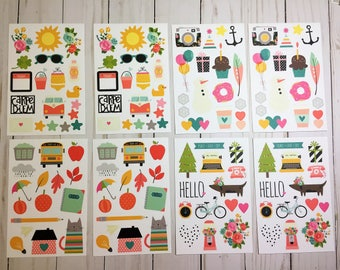 Carpe Diem Illustrated Life Stickers, Simple Stories, A5 Planner Stickers