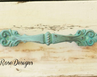 """vintage shabby chic white distressed dresser cabinet pull french provincial 3"""" color options"""