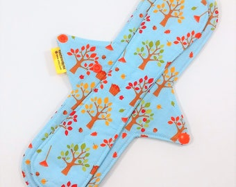 "12"" Cloth Pad,Cotton Cloth Panty Liner,Moderate Flow Cloth Pad,Exposed Core Pad,Long Cloth Panty Liner,Cotton Top Pad W/ Fleece Backing"
