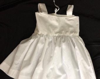 Child's 18th century bodiced petticoat, 12-24 months