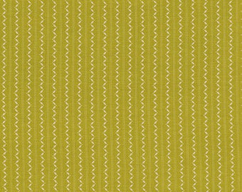 Denyse Schmidt Fabric, Ansonia Fine Stripe, Mossy, Green, PWDS068.MOSSY