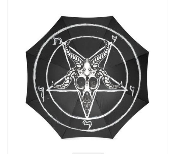 Sigil of Baphomet Foldable Umbrella