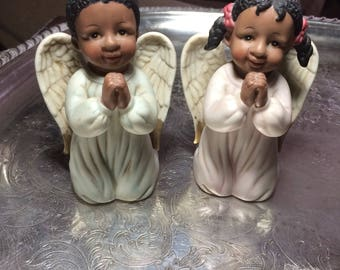 Beautiful Little Kneeling Angels Double Bkessings Collection