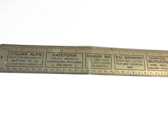 vintage advertising metal ruler