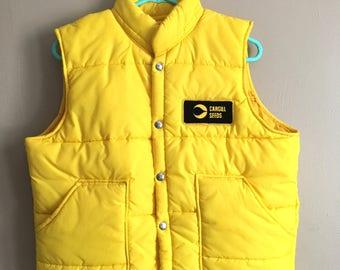 Cool Yellow Cargill Vest - sz M