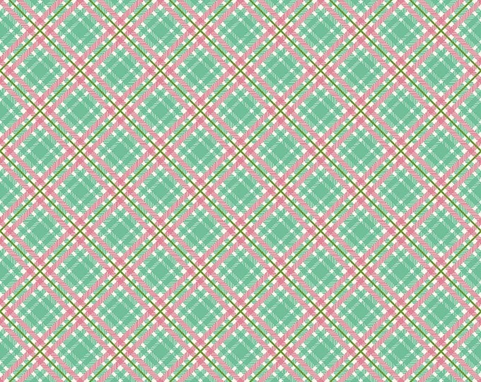 Prim and Proper Fabric by Lindsay Wilkes from The Cottage Mama for Riley Blake Designs and Penny Rose Fabrics - Teal Plaid