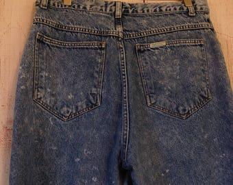 "Vintage 90s Sasson Stonewashed High Waisted Mom Jeans Ladies 32"" waist"