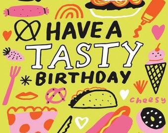 Tasty Birthday Notecard