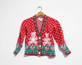 Vintage Kids Ugly Christmas Sweater