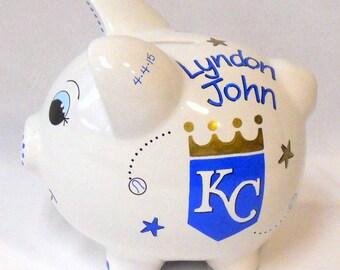 KC Royals Personalized Piggy Bank