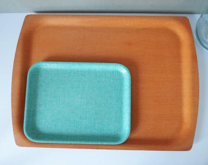 Trays Bentwood and Melamine from Denmark 1970's Retro Vintage