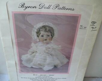 Doll Sewing Pattern Gift, Byron Hilda Baby Doll Pattern, Doll Dress Pattern, DIY Doll Dress, 17 1/2 Inch