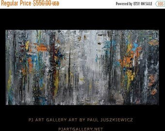 "17% OFF /ONE WEEK Only/ Serenity huge abstract knife by Paul Juszkieiwcz 60""x30"" texture"