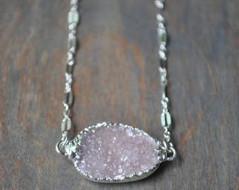 Druzy Necklace on Sterling Silver