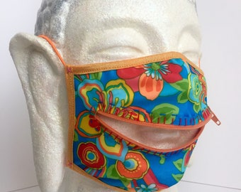 Aloha zipper dust mask for playa surfing adventures at Burning Man
