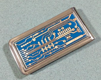Nerd gift Retro Vintage Money Clip Tech Gear Resistor Board Printed Circuit Board Electronic Components Electrical Currents Engineering