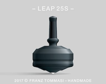 LEAP 25S Black Spin Top with rubber grip and ceramic tip