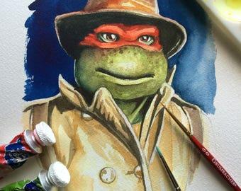 Raphael - a ninja turtle portrait
