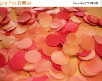 "ON SALE Pretty in Pink Tissue Confetti 3/4"" Circles"