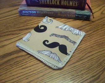 Men's handkerchief, Hanky, Hankie, Mustache, Funny gift, Gag gift, Hand Crochet, Dad, Grandpa, Uncle, Ready to ship