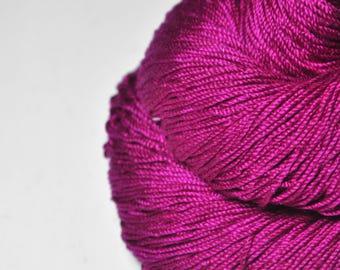 Electric light purple - Cordonnette Silk Fingering Yarn