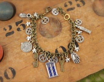 Doctor Who Inspired Charm Tardis Bracelet