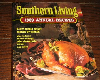 Vintage 1989 Southern Living Annual Recipes Hard Back Cookbook