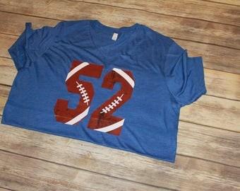 Football Number Shirt, Football Print, Custom Football Shirt, Football Season, Game Day Shirt, Football Mom Shirt, Sports Shirt, T-Shirt
