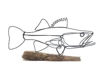 Walleye Fish Wire Sculpture. Fish Wire Art, Minimal Sculpture, 578220147
