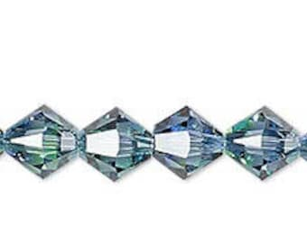 Swarovski Xilion (4328) bicone, Crystal Blend Colors, Provence Lavender and Chrysolite, 8mm #2418