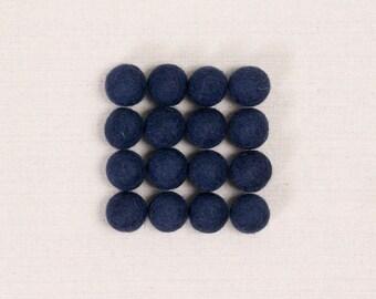Felt Balls // Midnight Blue // Felt Pom, Pom Pom Garland, Felt Flower Supplies, Mobile Crafts, Felt Beads, Blue Pom, Kids Craft, Nursery