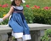 Sale Nantucket Girl - Ellie Inspired Portrait Smocked Shirred Dress PDF pattern - sizes 4-12