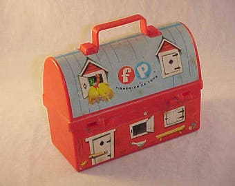 1962 Fisher Price Toys #549 Farm Lunch Pail