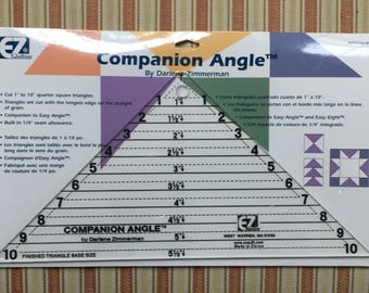 Quilt ruler Companion Angle for 1/4 square triangles