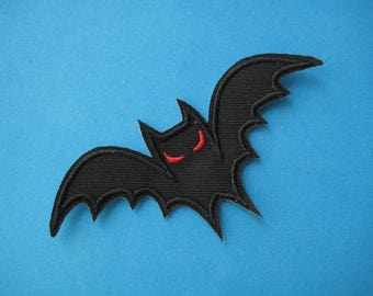 SALE~ Iron-on Embroidered Patch Bat 3.75 inch