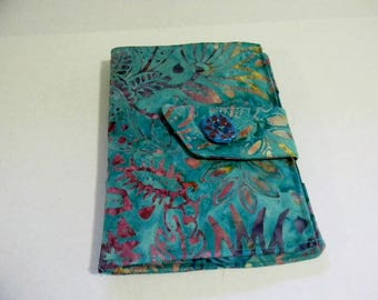 Turquoise Floral Batik Touch Cover