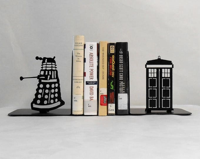 Dr. Who Metal Art Bookends