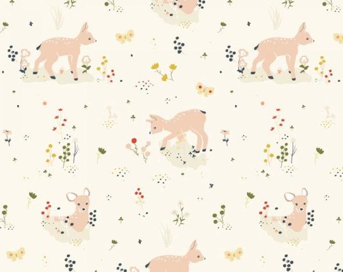 Organic KNIT Fabric - Birch Little - Little Deer Knit